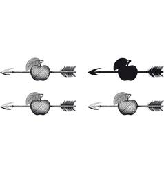 Arrow in Apple vector image