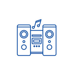 audio system line icon concept audio system flat vector image