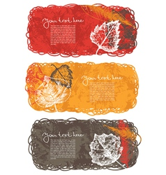 Autumn banners with leafs vector image