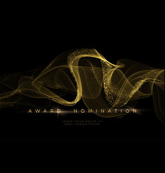 Awards ceremony luxurious black background vector