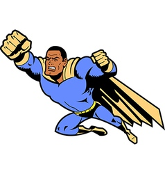 Black Flying Superhero vector image