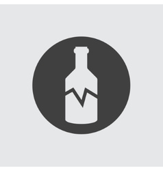 Broken bottle icon vector image