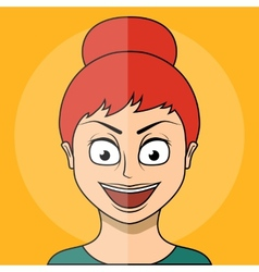 Cartoon girl Flat style vector image