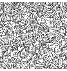 Cartoon hand-drawn sketchy doodles on the subject vector