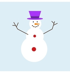 Cartoon snowman character vector