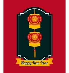 Chinese happy new year design vector