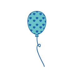 Colorful balloon icon vector