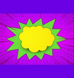 comic explosive bright concept vector image