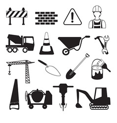 Construction and Industry Icons vector image