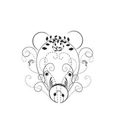 Decorative pig vector