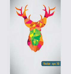 deer triangle stag low design low poly vector image