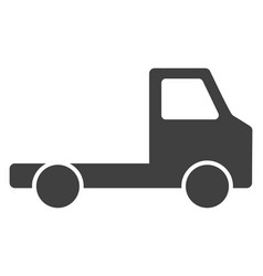 Delivery car chassi flat icon symbol vector