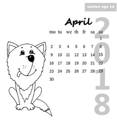 dog april vector image