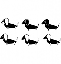 Dogs a set vector