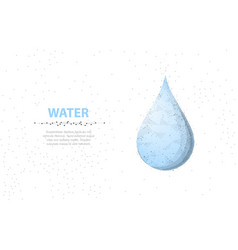 drop abstract 3d wireframe water drop isolated on vector image