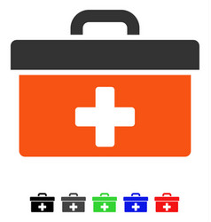 First aid toolbox flat icon vector