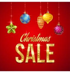 Flash sale christmas vector image