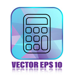 flat calculator vector image