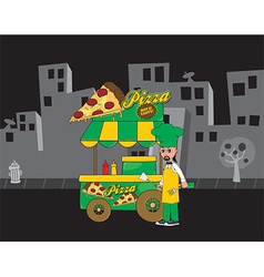 Food cart vector