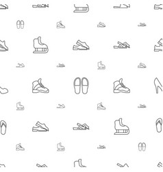 Footwear icons pattern seamless white background vector