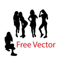 Fun and happy girls vector