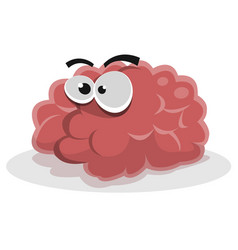 Funny brain character vector