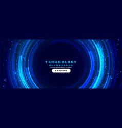 futuristic digital technology concept background vector image