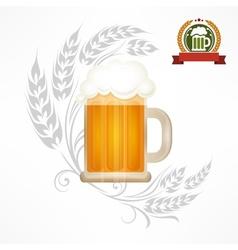 Glass mug of beer vector image