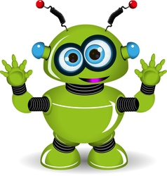 Green Robot vector image