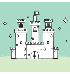 Hand drawn doodle medium castle vector image