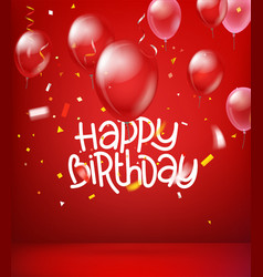 Happy birthday wishes card vector