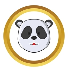 Head of panda bear icon vector