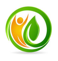 Health nature man icon design vector