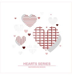 Heart series design III vector