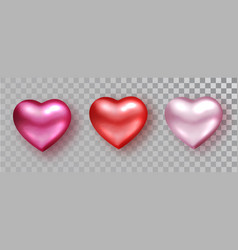 hearts set shades for valentine s day design vector image