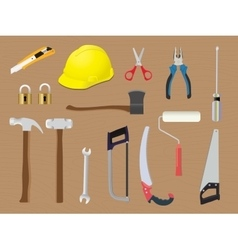 Home tools diy toolbox renovation construction vector