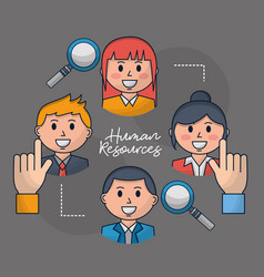 Human resources related vector
