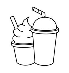 Ice cream soda food vector
