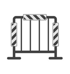 icon of road fencing with reflectors vector image