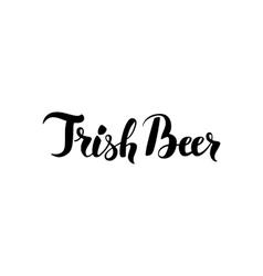 Irish Beer Lettering vector