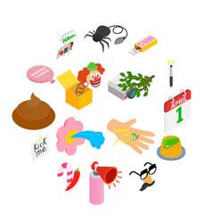 joke icons set vector image