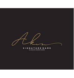Letter ak signature logo template vector