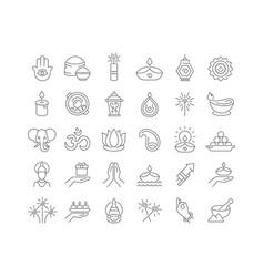 line icons diwali vector image