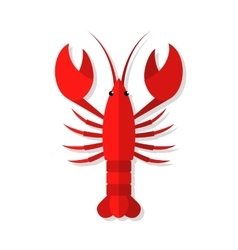 Lobster flat vector
