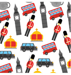 London and united kingdom city soldier crown taxi vector