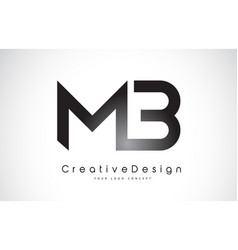 Mb m b letter logo design creative icon modern vector