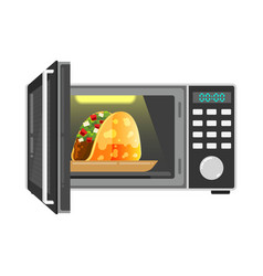 microwave oven icon simple vector image