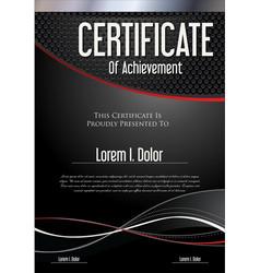 Modern black certificate or diploma template vector