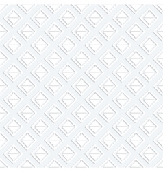 Modern seamless pattern with white geometrici vector image