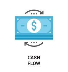 Money flow icon concept vector